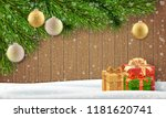christmas greeting card... | Shutterstock .eps vector #1181620741