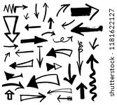 hand drawn arrows set. vector... | Shutterstock .eps vector #1181622127