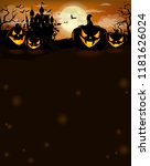 halloween party invitation with ... | Shutterstock .eps vector #1181626024
