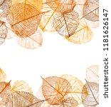 frame of vector autumn leaves ... | Shutterstock .eps vector #1181626147