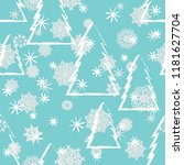 vector christmas tree seamless... | Shutterstock .eps vector #1181627704