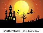 illustration of halloween... | Shutterstock .eps vector #1181629567