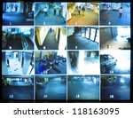 security camera monitor | Shutterstock . vector #118163095