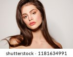 natural beauty make up. young... | Shutterstock . vector #1181634991