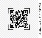 scan qr code  symbol  app.... | Shutterstock .eps vector #1181636764