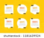 quote bubbles template.... | Shutterstock .eps vector #1181639524