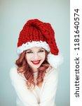 santas little helper. beautiful ...   Shutterstock . vector #1181640574