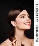 young brunette woman | Shutterstock . vector #1181640841