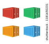 container port flat icon. you...
