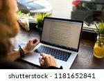 man professional content writer ... | Shutterstock . vector #1181652841