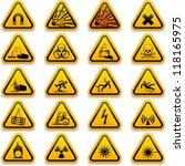 standard hazard symbols | Shutterstock .eps vector #118165975