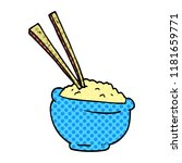 cartoon doodle tasty bowl of... | Shutterstock . vector #1181659771