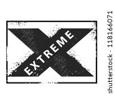 extreme stamp | Shutterstock .eps vector #118166071
