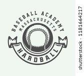 vintage baseball sport logo ... | Shutterstock .eps vector #1181664217