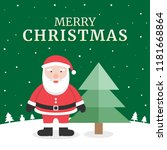 merry christmas greeting card... | Shutterstock .eps vector #1181668864