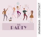 people celebrating poster.... | Shutterstock .eps vector #1181672617