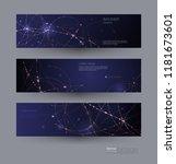 abstract molecules banners set... | Shutterstock .eps vector #1181673601