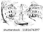 monument to duc de richelieu in ...   Shutterstock . vector #1181676397