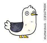 cartoon doodle seagull | Shutterstock . vector #1181679004