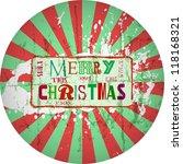 grungy christmas design  vector ... | Shutterstock .eps vector #118168321