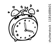 line drawing cartoon alram clock | Shutterstock . vector #1181688601
