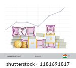 growth graph with bundles of... | Shutterstock .eps vector #1181691817