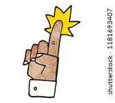 cartoon doodle pointing hand | Shutterstock . vector #1181693407