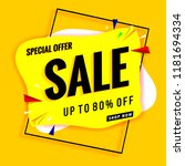 sale banner yellow | Shutterstock .eps vector #1181694334