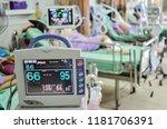 modern vital sign monitor on... | Shutterstock . vector #1181706391