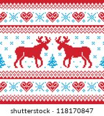 christmas and winter knitted... | Shutterstock .eps vector #118170847