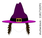 isolated halloween witch...   Shutterstock .eps vector #1181710291