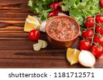 traditional mexican red spicy... | Shutterstock . vector #1181712571