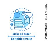 make an order concept icon. add ... | Shutterstock .eps vector #1181713807