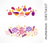 diwali compositions with... | Shutterstock .eps vector #1181716117