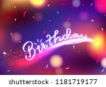 happy birthday  celebration... | Shutterstock .eps vector #1181719177