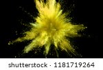 explosion of coloured powder... | Shutterstock . vector #1181719264