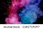 explosion of coloured powder... | Shutterstock . vector #1181719297
