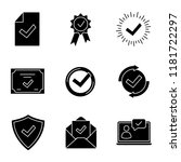approve glyph icons set.... | Shutterstock .eps vector #1181722297