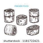 appetizer finger food  vector... | Shutterstock .eps vector #1181722621