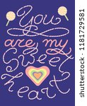 """love message """"you are my...   Shutterstock .eps vector #1181729581"""