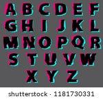 vector set of outline letters...   Shutterstock .eps vector #1181730331