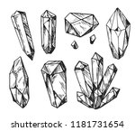 set of cristals.  hand drawn... | Shutterstock .eps vector #1181731654