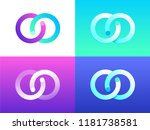 reversed white purple cyan... | Shutterstock .eps vector #1181738581