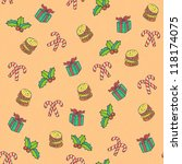 new year pattern. seamless...   Shutterstock . vector #118174075