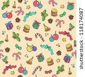 new year pattern. seamless... | Shutterstock . vector #118174087