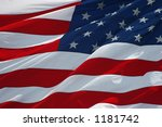american flag background | Shutterstock . vector #1181742