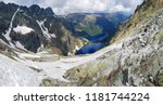 morskie oko. high tatras ... | Shutterstock . vector #1181744224