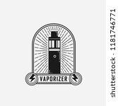 vape logo . vaporizer flat...   Shutterstock .eps vector #1181746771