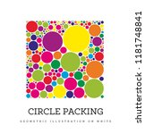 circle packing. geometric... | Shutterstock .eps vector #1181748841