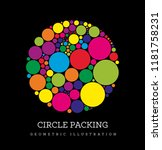 circle packing. geometric... | Shutterstock . vector #1181758231